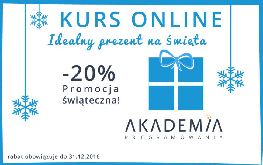 Kurs online promocja świąteczna programowanie dla dzieci i młodzieży