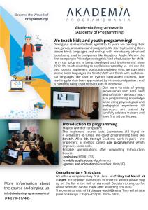 English programming for kids