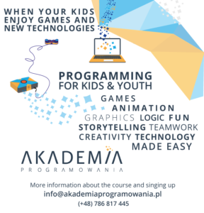 english course programming for kids krakow